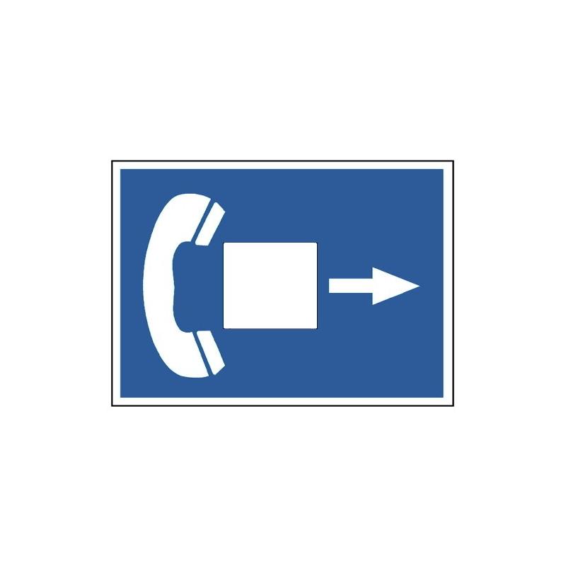 Telefonsymbol (mit Pfeil und Schreibfläche)