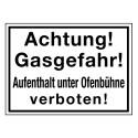 Achtung! Gasgefahr! Aufenthalt unter Ofenbühne verboten!
