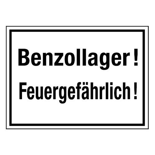 Benzollager! Feuergefährlich!