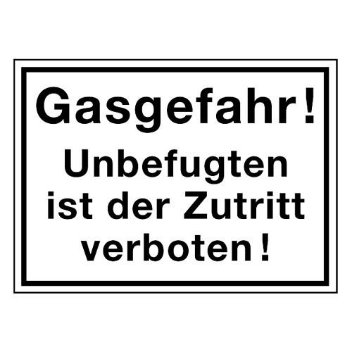 Gasgefahr! Unbefugten ist der Zutritt verboten!