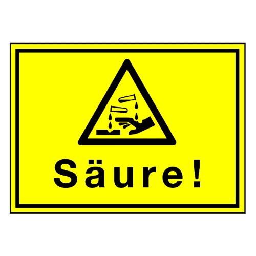 Säure! (mit Symbol W023)