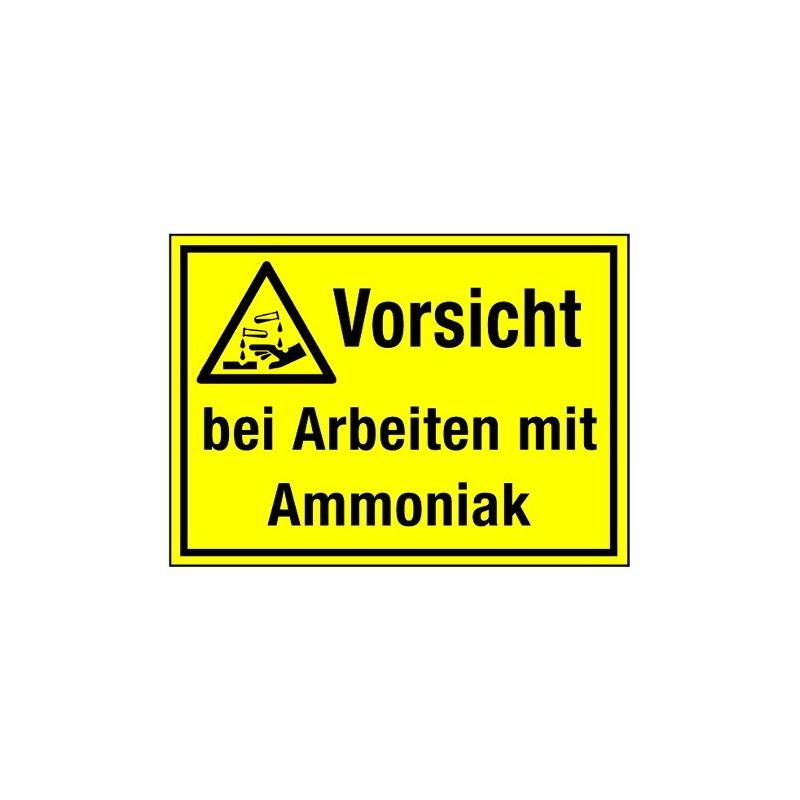 Vorsicht bei Arbeiten mit Ammoniak (mit Symbol W023)