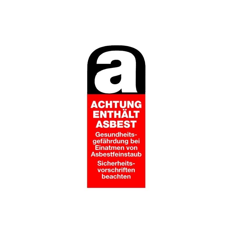 Achtung enthält Asbest … Asbestfeinstaub …