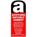 Achtung enthält Asbest … Asbestfasern …