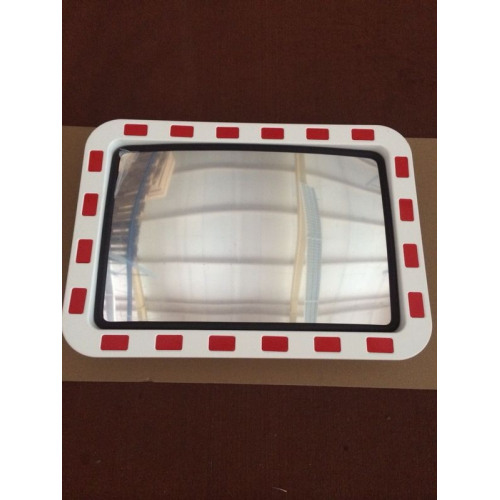 Verkehrsspiegel Acrylglas 800 x 1000 mm, mit Kippgelenk und Rohrschelle