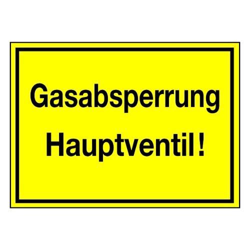 Gasabsperrung Hauptventil!