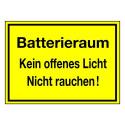 Batterieraum Kein offenes Licht Nicht rauchen!