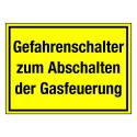 Gefahrenschalter zum Abschalten der Gasfeuerung