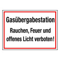 Gasübergabestation Rauchen, Feuer und offenes Licht verboten!