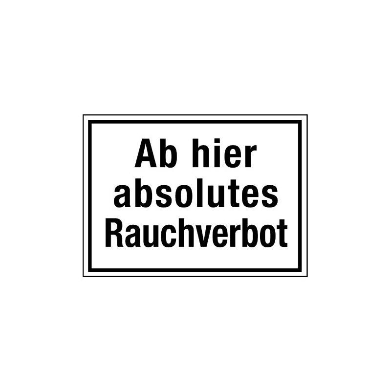 Ab hier absolutes Rauchverbot