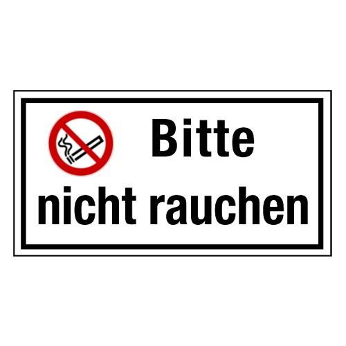Bitte nicht Rauchen. (mit Symbol P002)