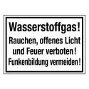 Wasserstoffgas! Rauchen, offenes Licht und Feuer verboten! Funkenbildung vermeiden!