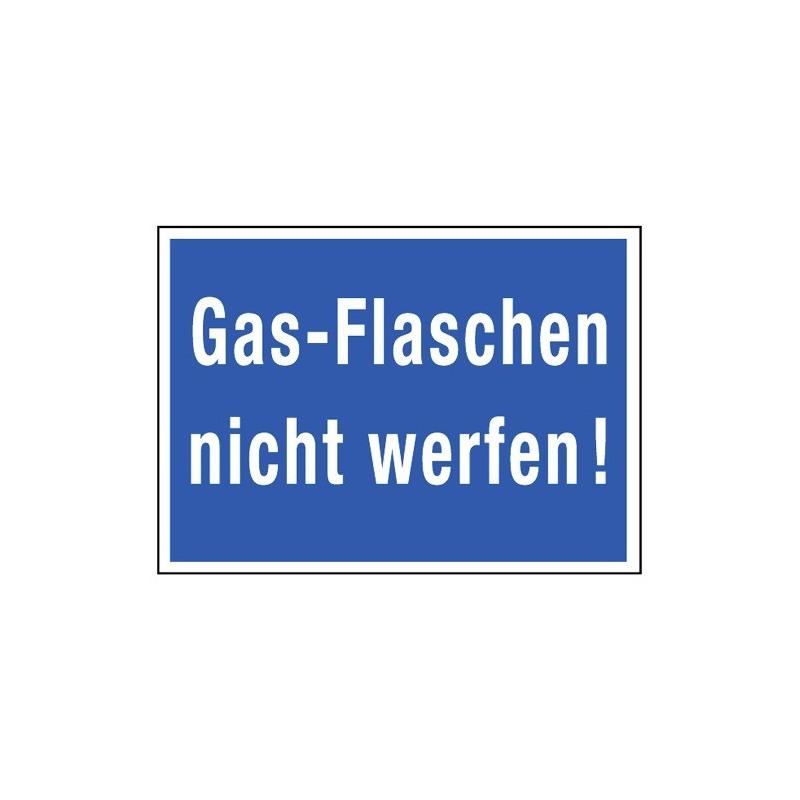 Gas-Flaschen nicht werfen!