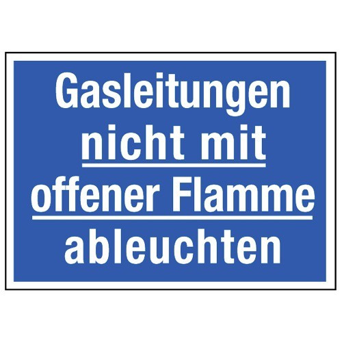 Gasleitungen nicht mit offener Flamme ableuchten