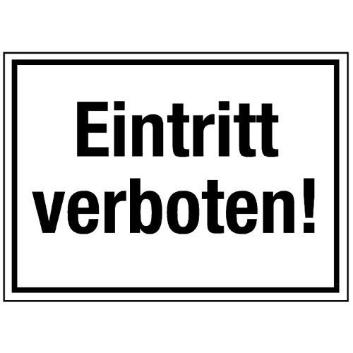Eintritt verboten!