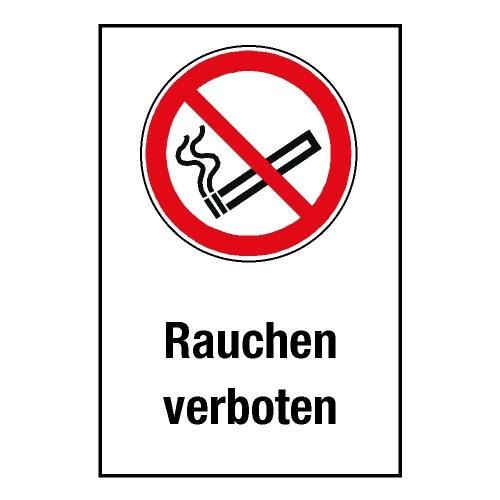 """Kombischild """"Rauchen verboten"""" - P002"""