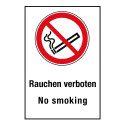 "Kombischild ""Rauchen verboten No smoking"" - P002"