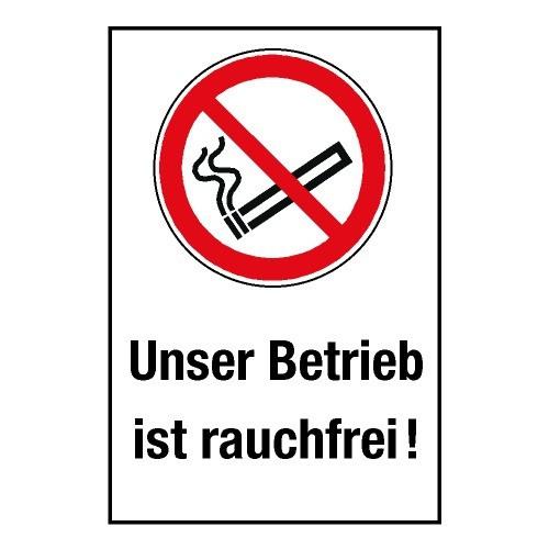 """Kombischild """"Unser Betrieb ist rauchfrei"""" - P002"""