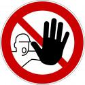 Zutritt für Unbefugte verboten - D-P006
