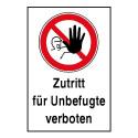 """Kombischild """"Zutritt für Unbefugte verboten"""" - D-P006"""
