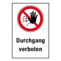 "Kombischild ""Durchgang verboten"" - D-P006"