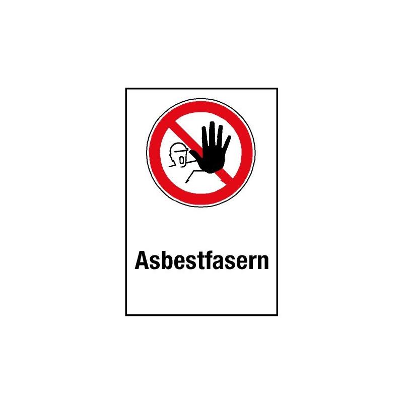 """Kombischild """"Asbestfasern"""" - D-P006"""