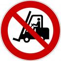 Für Flurförderzeuge verboten - P006