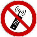 Eingeschaltete Mobiltelefone verboten - P013