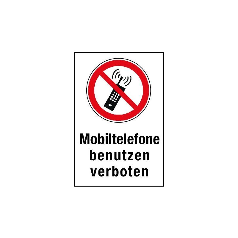 """Kombischild """"Mobiltelefone benutzen verboten"""" - P013"""