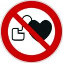 Kein Zutritt für Personen mit Herzschrittmachern oder implantieten Defibrillatoren - P007