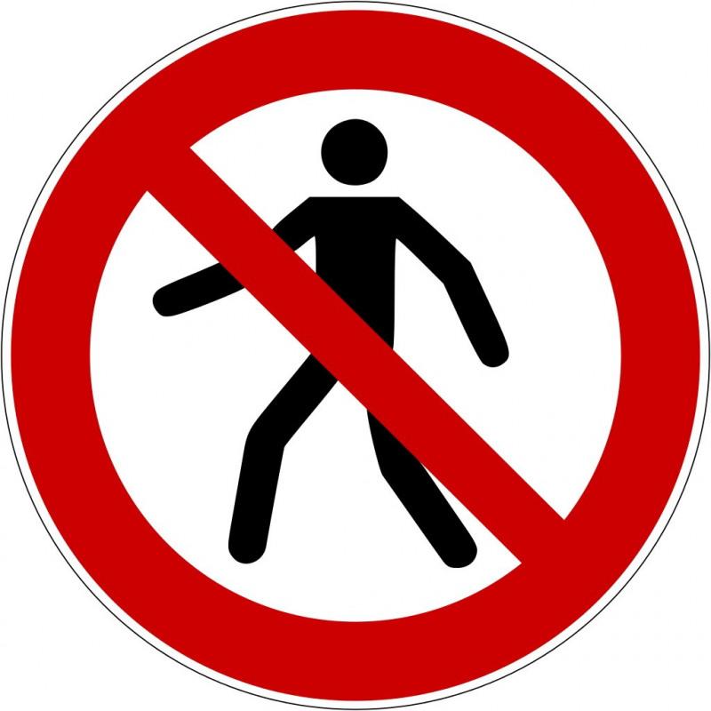 Für Fußgänger verboten - P004