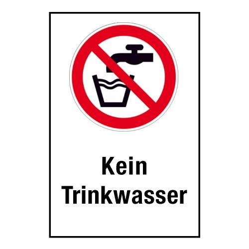 """Kombischild """"Kein Trinkwasser"""" - P005"""