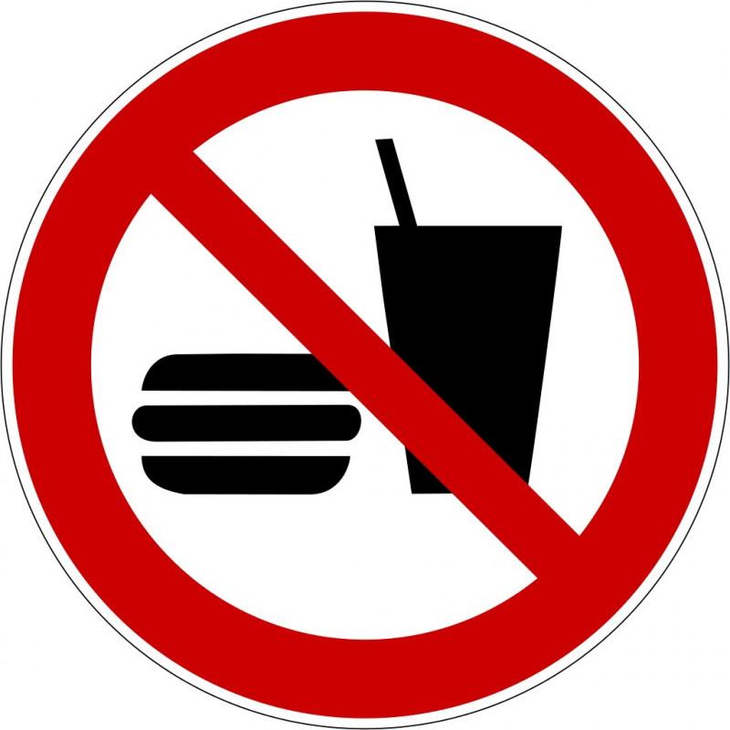 Essen und Trinken verboten - P022