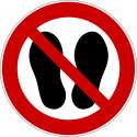 Betreten der Fläche verboten - P024