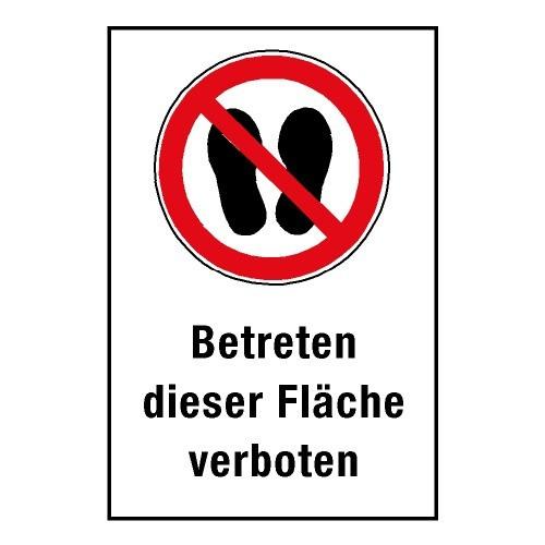 """Kombischild """"Betreten dieser Fläche verboten"""" - P024"""