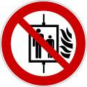 Aufzug im Brandfall nicht benutzen - P020