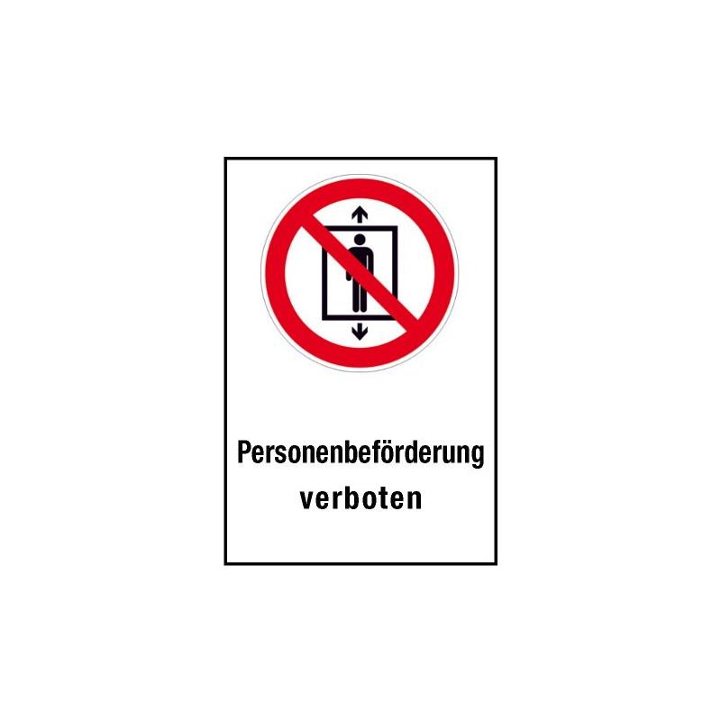 """Kombischild """"Personenbeförderung verboten"""" - P027"""