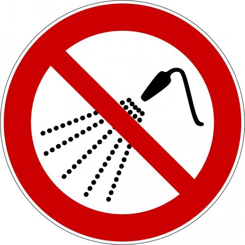 Mit Wasser spritzen verboten - P016