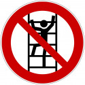 Besteigen für Unbefugte verboten - D-P022