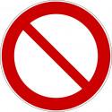 Allgemeines Verbotszeichen (Nur in Verbindung mit Zusatzzeichen) - P001