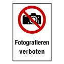 """Kombischild """"Fotografieren verboten"""" - P029"""