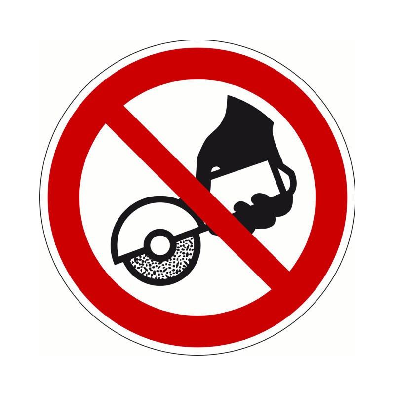 Nicht zulässig für Freihand- und handgeführtes Schleifen