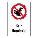 "Kombischild ""Kein Hundeklo"""