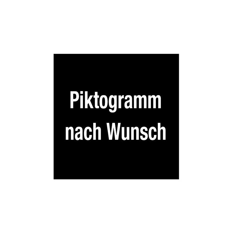Piktogramm mit Wunschtext