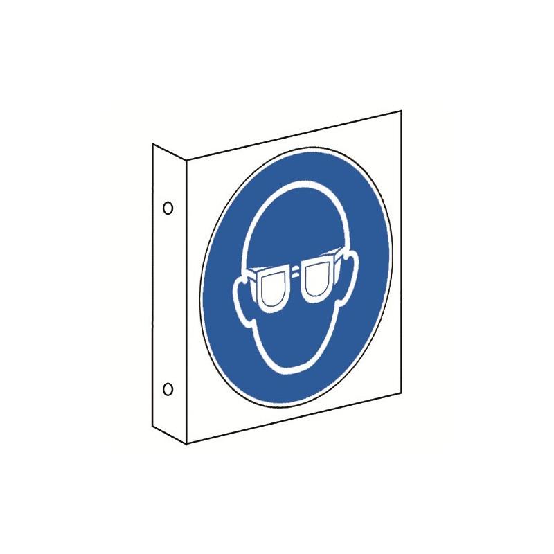 Fahnenschild: Augenschutz benutzen - M004