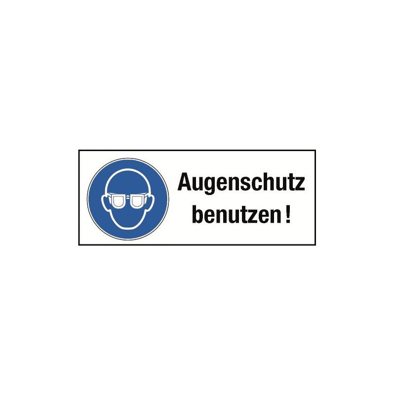 """Kombischild """"Augenschutz benutzen!"""" - M004"""