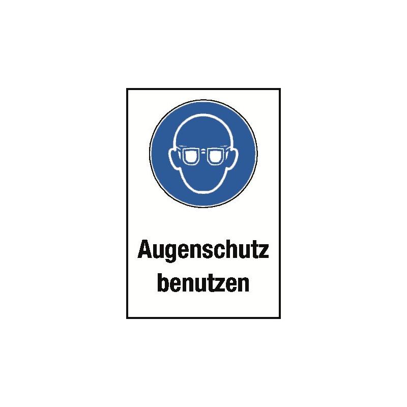 """Kombischild """"Augenschutz benutzen"""" - M004"""
