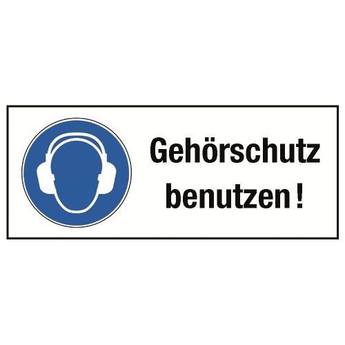 """Kombischild """"Gehörschutz benutzen!"""" - M003"""