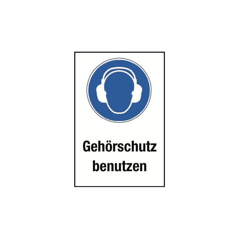 """Kombischild """"Gehörschutz benutzen"""" - M003"""
