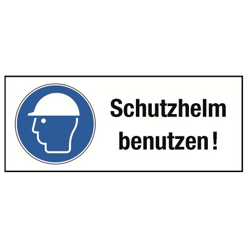 """Kombischild """"Schutzhelm benutzen!"""" - M014"""